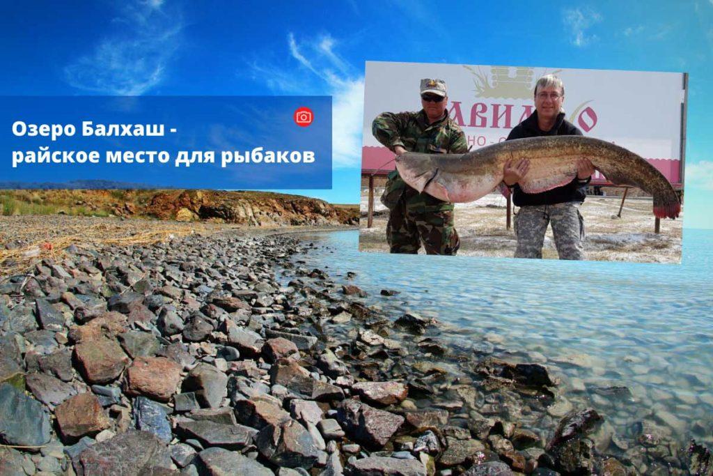Озеро Балхаш - райское место для рыбаков